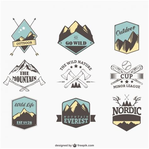 Outdoor Sports Badges Vector  Free Download