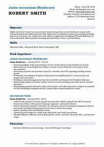 Free Software For Payroll In Excel Junior Accountant Resume Samples Qwikresume