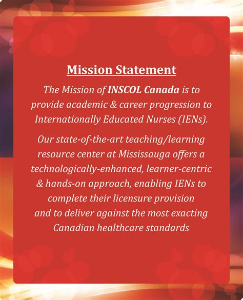 inscol mission statement nursing programs  caukuasausnz