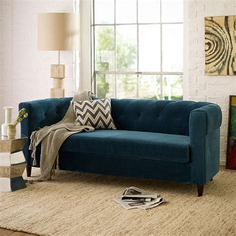 west elm settee get this look the secrets of eclectic interior design