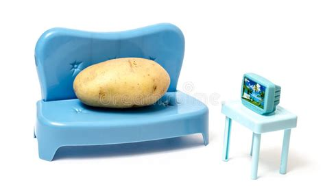 Couch Potato Watching Tv Stock Photo  Image 50315739