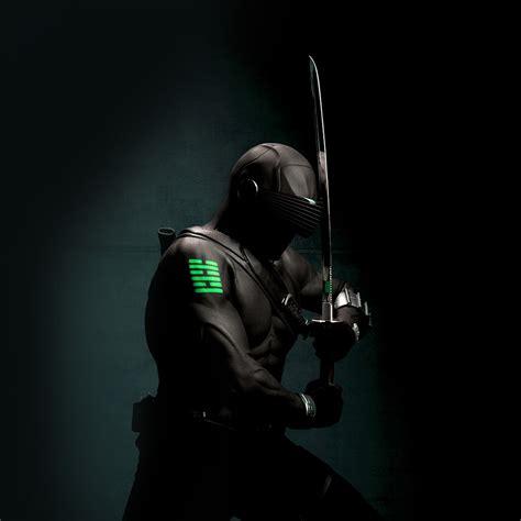 gi joe snake eye ninja art dark hero green wallpaper