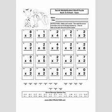 Free Back To School Multiplication Worksheets Multiplicationcom