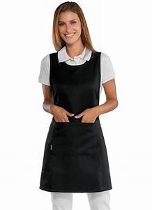 Tablier De Cuisine Femme : tablier de travail noir pour femme polyesther tabliers de travail ~ Teatrodelosmanantiales.com Idées de Décoration