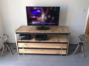 Un meuble télé industriel à petit prix Bidouilles IKEA