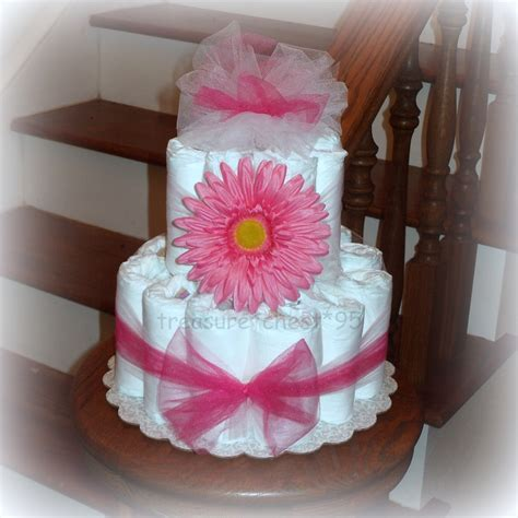Baby Shower Cakes Baby Shower Diaper Cake Centerpiece Ideas