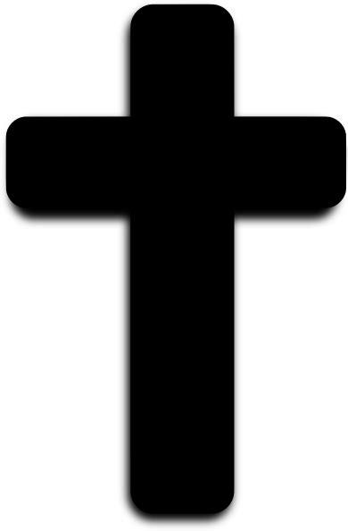 Rounded Black Cross Clip Art at Clker.com - vector clip