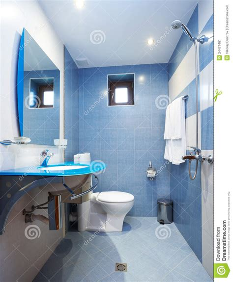 Modern Bathroom Blue by Modern Blue Bathroom Stock Image Image Of Home Tiles