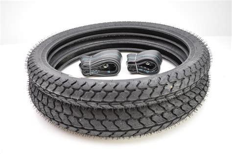 Michelin Gazelle M62 Moped Front & Rear Tires W/ Irc Tubes