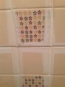 Remodelaholic a 170 bathroom makeover with painted tile for Cleaning bathroom walls before painting