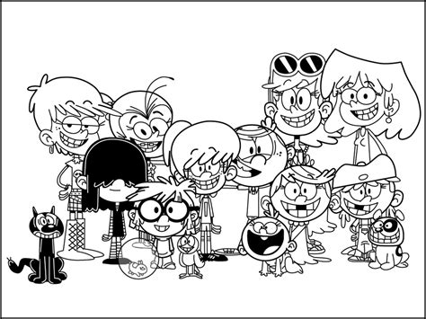 Free Coloring Pages Loud House: Loud house nickelodeon
