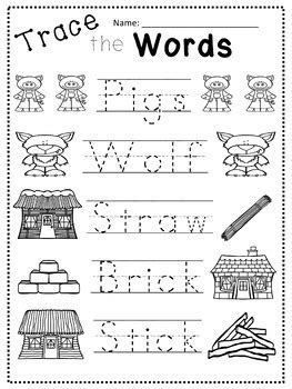 The Three Little Pigs Worksheets & Counting Book by