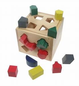 Cube En Bois Bébé : bo te forme bo te cube jouet b b achat vente pour b b naissance 3ans bois et poterie ~ Melissatoandfro.com Idées de Décoration