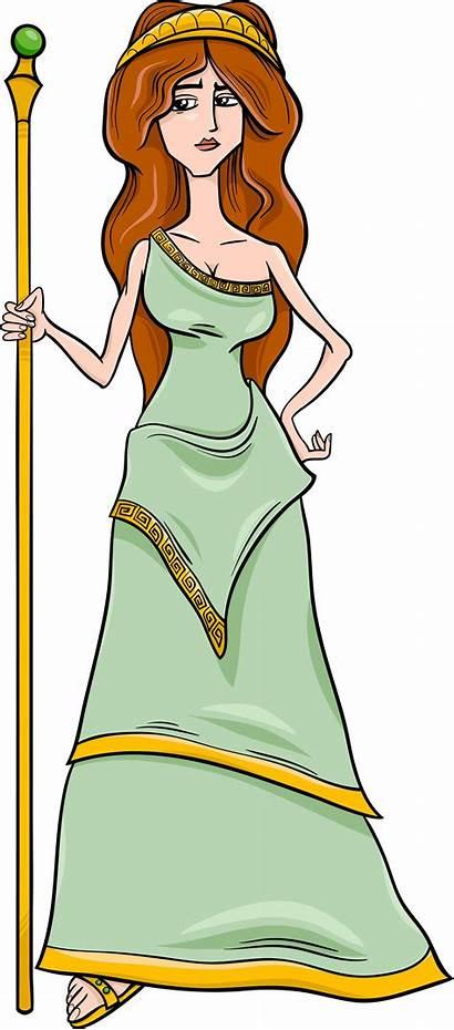 Greek Cartoon Goddess Hera Gods Goddesses Mythology