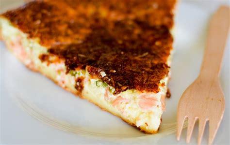 quiche sans p 226 te au saumon fum 233 recette facile marciatack fr