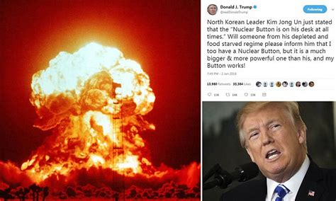 President Boasts On About Bigger Nuclear Button There Is No 39 Nuclear Button 39 On 39 S Desk Daily Mail