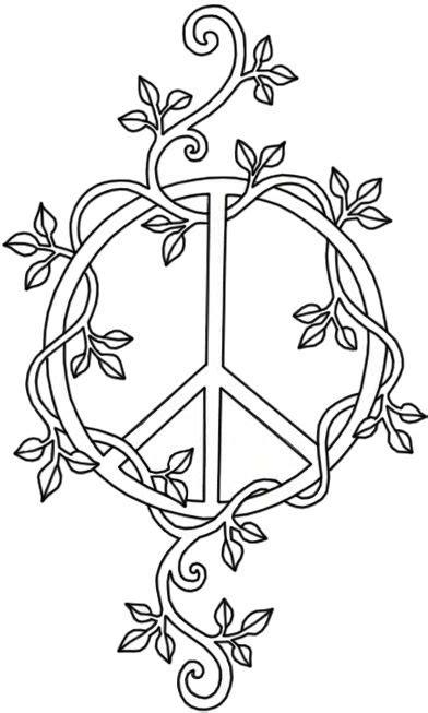 Peace Sign | Vine tattoos, Peace sign tattoos, Peace tattoos