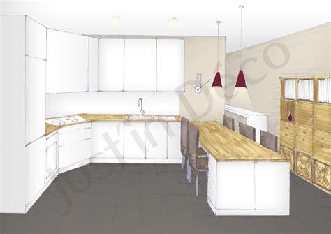 deco interieur cuisine decoration interieur salon cuisine