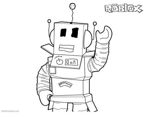 roblox coloring pages robot  art  printable