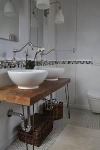 Waschtisch Holz Aufsatzwaschbecken : waschtisch holzplatte runde aufsatzwaschbecken vintage ~ Lizthompson.info Haus und Dekorationen