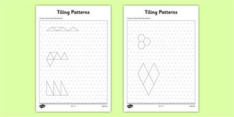 tiling patterns  isometric dot paper cfe tiling