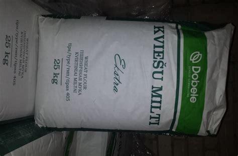 Kviešu milti Ekstra 405 tips 25kg / Milti / Pārtikas ...