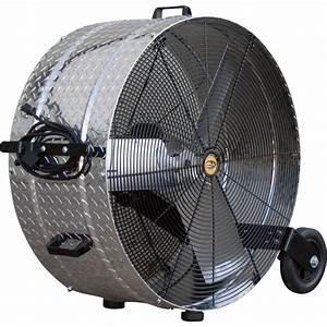 jd sales diamond brite floor drum fan 36in 1 2 hp With cfm floors
