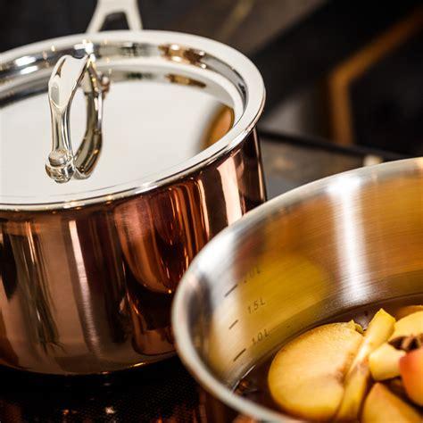 copper cookware set  piece set ducq touch  modern