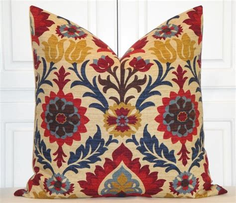 24 x 24 pillow cover decorative pillow cover 24 x 24 suzani navy blue