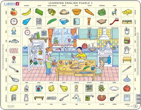puzzle cadre apprendre l 39 anglais 1 dans la cuisine en