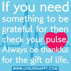 Be Grateful for Your Life Quotes