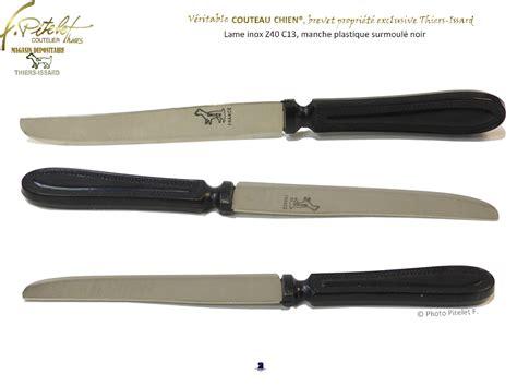 couteaux de cuisine professionnel thiers couteau chien noir coutellerie pitelet à thiers
