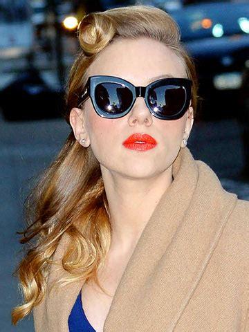 wow scarlett johansson  sexy  style  retro hair roll  hot red lips   york