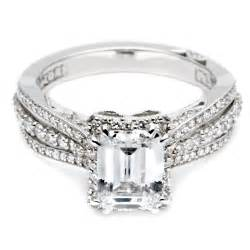 emerald cut engagement rings with halo large engagement rings emerald cut halo style 1