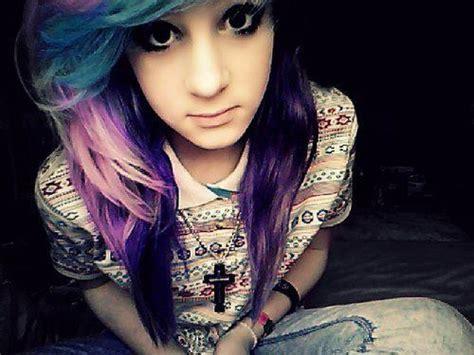 Blue And Purple Hair On Tumblr