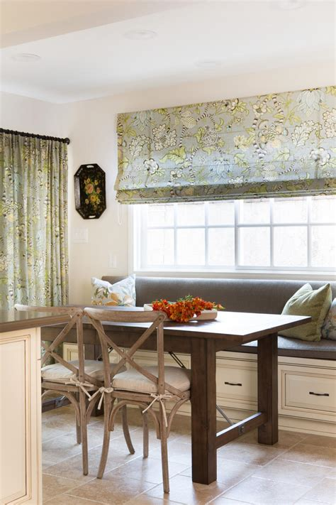Cottage Kitchen With Banquette Window Seating Roman