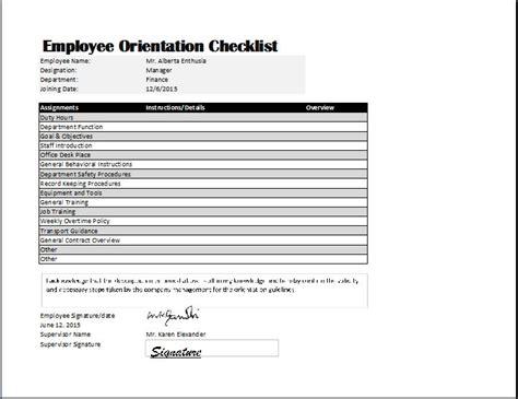 Employee Orientation Checklist Template Purchase Order Pdf Template Proper Way To Write Resume Publisher Birthday Card Pta Meeting Agenda Free Word Catalog Templates Pto