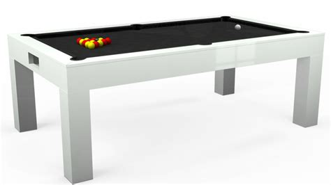 white pool table dining table 7ft kingswood aspen pool table in gloss white standard