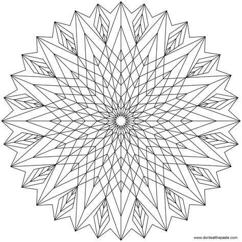 coloring pages coloring pages geometric mandala