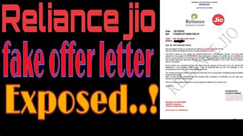 reliance jio fake offer letter exposed hindi olx job