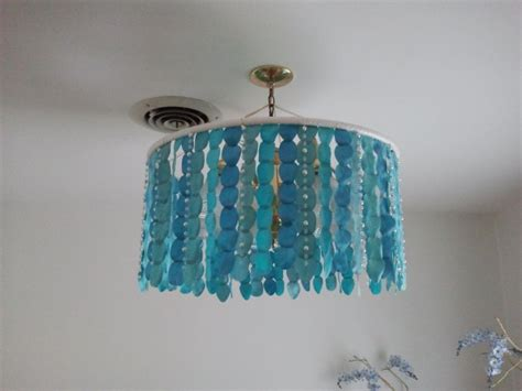 hula hoop chandelier  good   renters  hide