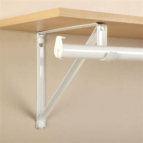 closet pro 10 in x 3 4 in white shelf and rod bracket rp