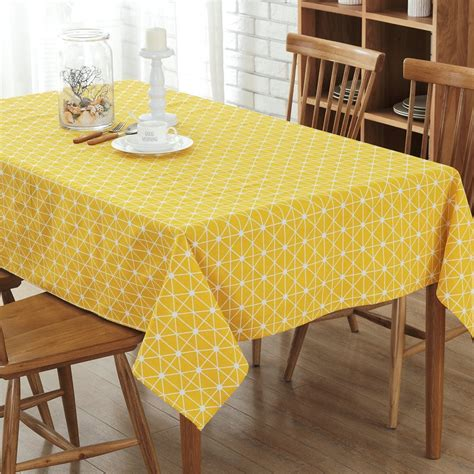 Table Cloth Cotton Rural Square Tablecloths Rectangular