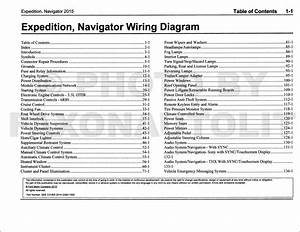 2015 Ford Expedition Lincoln Navigator Wiring Diagram Manual Original