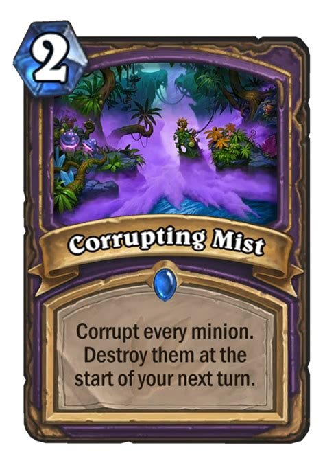 hearthstone top decks september 2017 corrupting mist hearthstone card