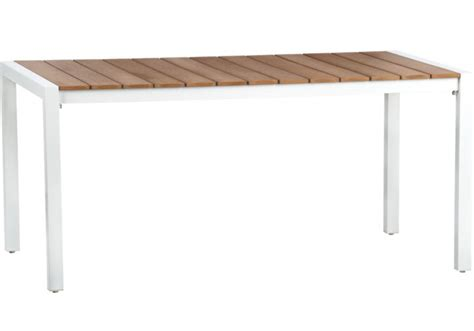 white metal outdoor dining table stocktonandco
