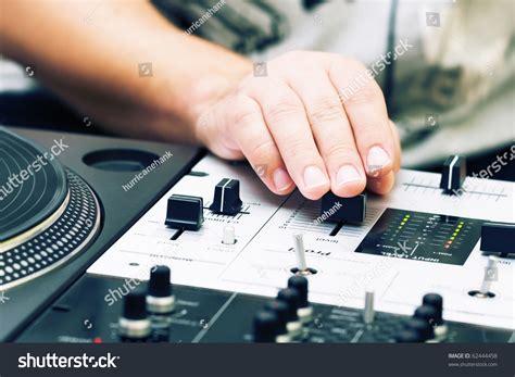 Dj Hand Adjusting Sound Level On Stock Photo 62444458