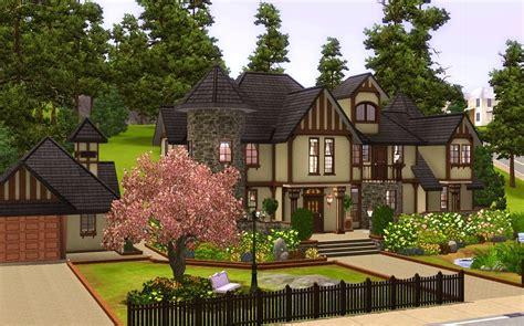 mod sims alcester house modern mock tudor house plans