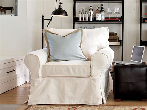 pottery barn overstuffed chair cover slipcovers for chairs ottomans and more home decor