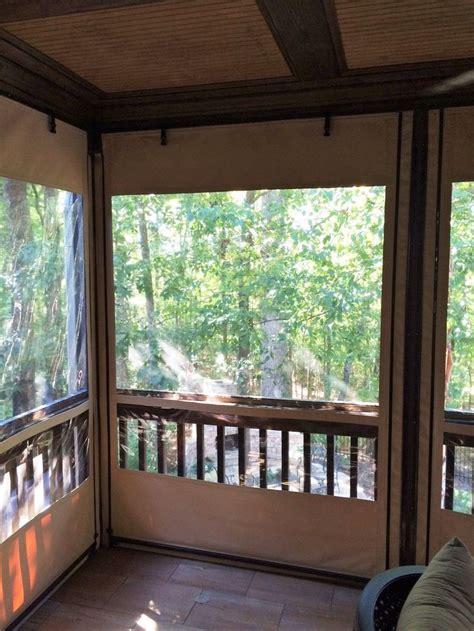 piedmont enclosures clear vinyl roll  curtains porch curtains patio enclosures patio